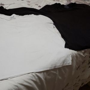 Faded Glory XXL black and white long sleeve tops